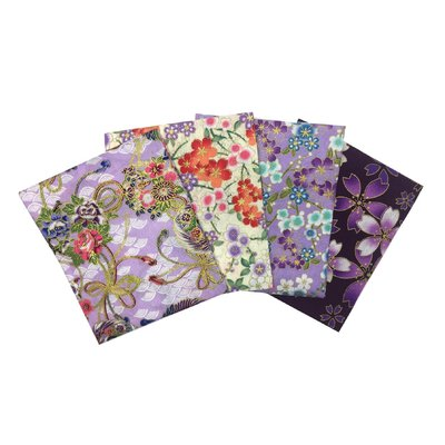 Set Fat Quarter Japanese Florals Lilac