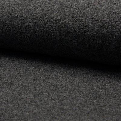 Tesatura din lana fiarta si vascoza - Dark Grey