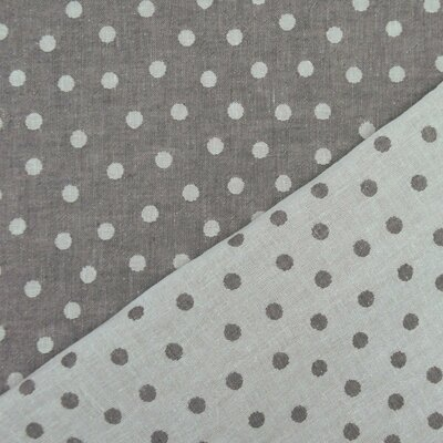 Tesatura jaquard cu doua fete - Dots Dark Grey