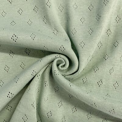 Tricot 100% bumbac - Pointoille Mint