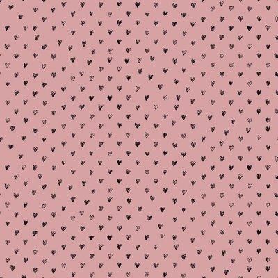 Vascoza Imprimata - Radiance Hearts pink