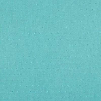 Voal de bumbac cu buline brodate - Plumetis Aqua