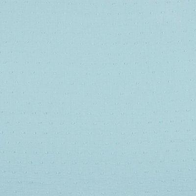 Voal de bumbac cu buline brodate - Plumetis Light Blue