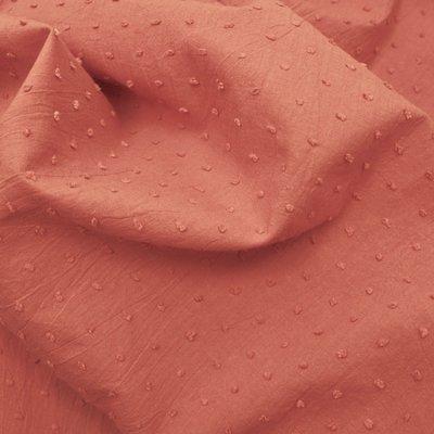 Voal de bumbac cu buline brodate - Plumetis Marsala
