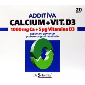 Additiva Calcium+Vit.D3 20 plicuri
