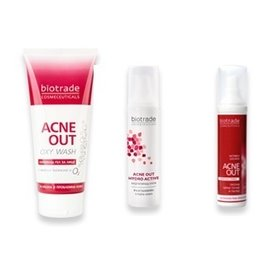 Biotrade Acne Out Oxy Wash 50ml+Lotiune Activa 60ml+Crema Hydro Activa 60ml