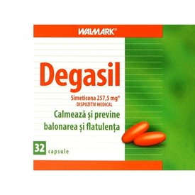 Degasil - dispozitiv medical - Simeticonă, 32  capsule