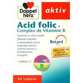 Doppelherz Aktiv Acid folic + Complex de Vitamine B, 30 tablete