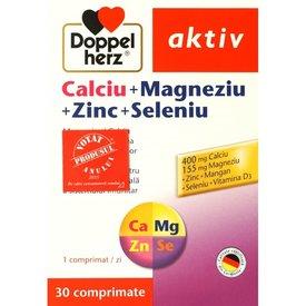 Doppelherz Aktiv Calciu+Magneziu+Zinc+Seleniu,  30 comprimate