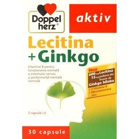 Doppelherz Aktiv Lecitina+Ginkgo,  30 capsule
