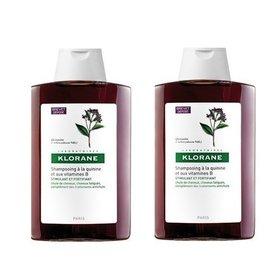 Klorane Sampon cu chinina si complex de B  400 ml + 400 ml