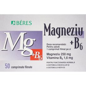 Magneziu B6 comprimate 50 filmate