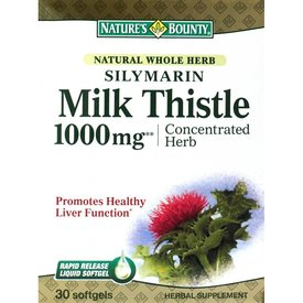 Milk Thistle Silimarin 1000 mg, 30+10 capsule gelatinoase