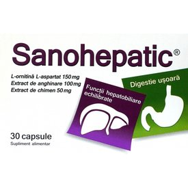 Sanohepatic, 30 capsule