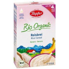 Topfer Organic Cereale Orez cu Banane (de la 4 luni) 175g