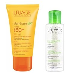 Uriage Bariesun Fluid Mat Spf 50+ 50ml + Apa Micelara Ten Mixt-Gras 100ml Cadou