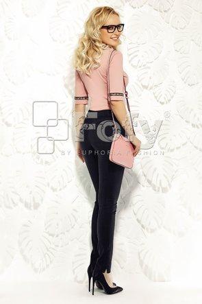 Cămașă roz pudră cu bandă floricele
