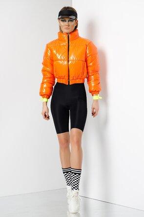 Jacheta portocalie scurta