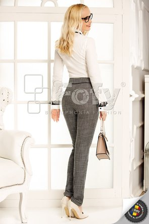 Pantalon casual din stofă gri