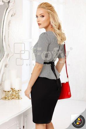 Rochie cu peplum și fundiță
