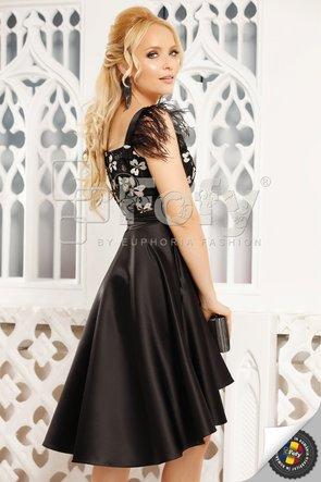 Rochie elegantă din tafta accesorizată cu fulgi