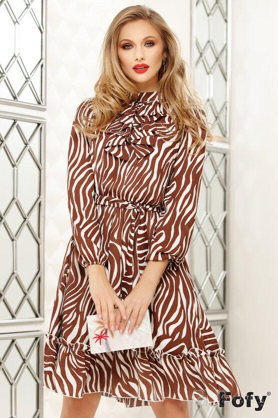 Rochie Fofy voal imprimeu zebra