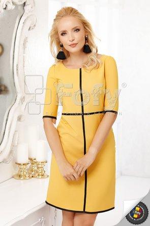 Rochie galbenă cu inserții