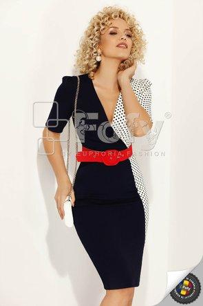 Rochie midi bicoloră
