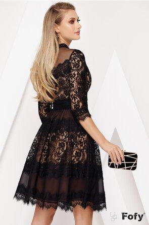 Rochie premium din tul si dantela eleganta