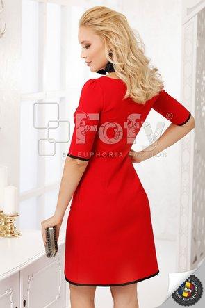Rochie roșie cu inserții