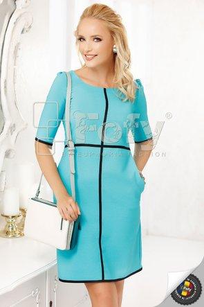 Rochie turquoise cu inserții