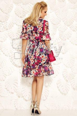 Rochie vaporoasă cu imprimeu floral roșu