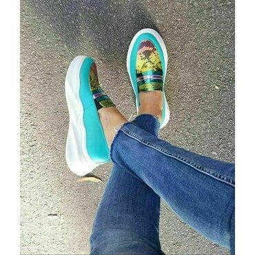 Pantofi verzi Snake