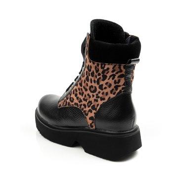Ghete dama negre cu imprimeu leopard Katy