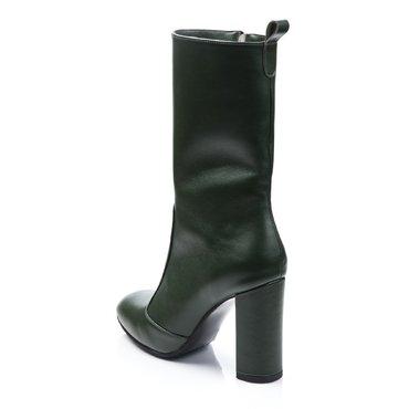Ghete elegante piele verde Greta