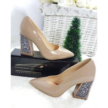 Pantofi bej din piele naturala Trend 2