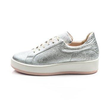 Pantofi casual piele argintie Alesia