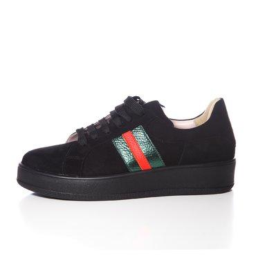 Pantofi casual piele intoarsa neagra Alesia