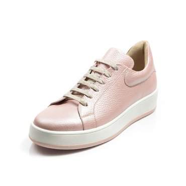 Pantofi casual piele roz perlat Alesia