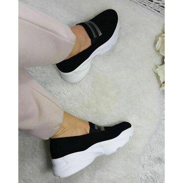 Pantofi dama sport casual din piele naturala neagra Kendal