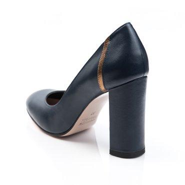 Pantofi de dama piele bleumarin cu aramiu Voiage
