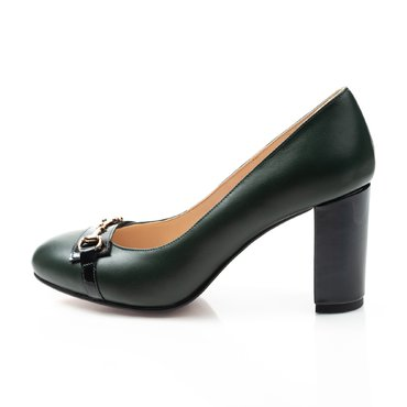 Pantofi de dama piele verde Kendra