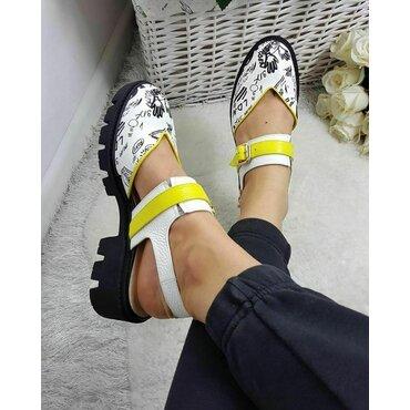 Pantofi din piele naturala color Fly