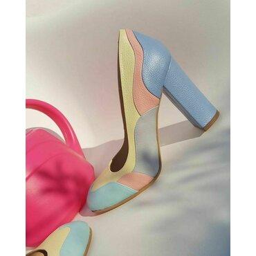 Pantofi din piele naturala color Zina