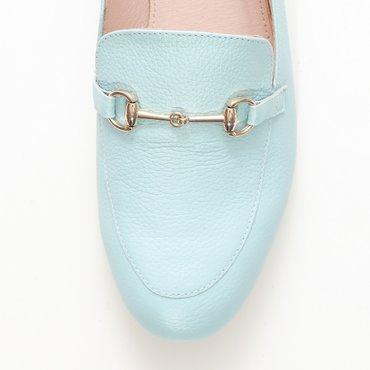 Pantofi din piele naturala verde menta Felicia