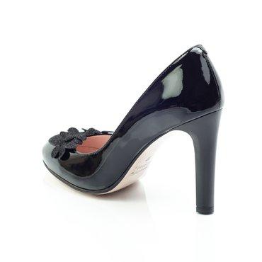 Pantofi lac negru Ikebana