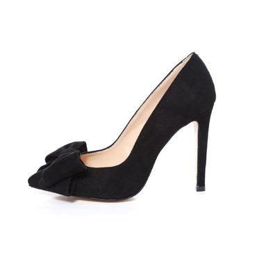 Pantofi negrii din piele intoarsa Trend Lady
