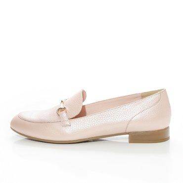 Pantofi nud roze din piele naturala Felicia