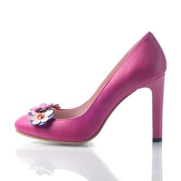 Pantofi piele fucsia Elisa
