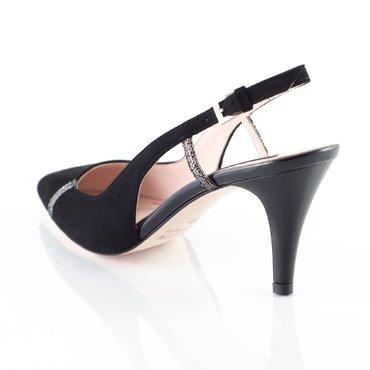 Pantofi piele intoarsa neagra Geox